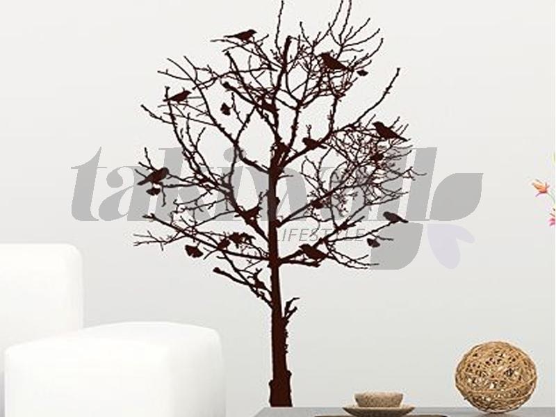 Paris sticker mural florale arbre oiseau vente en ligne for Arbre decoration interieur